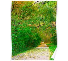 Emerald Autumn Poster