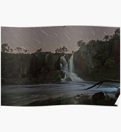 Nigretta Falls and Startrails Poster
