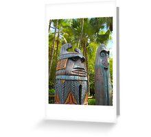 Tropical Tikis Greeting Card
