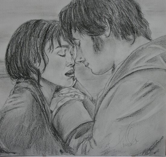 Mr Darcy and Elizabeth Bennett by tammisponseller