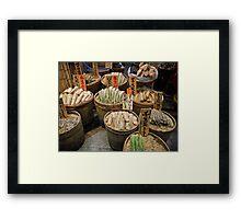 Nishiki Food Market Framed Print