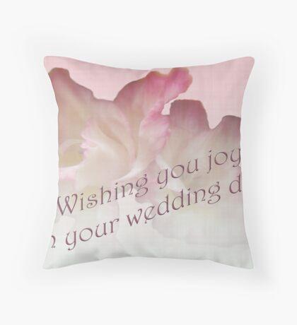 Wedding Wishes Card - Gladioli Throw Pillow