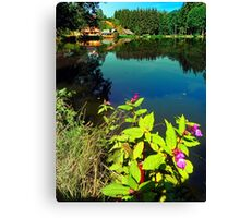 End of summer at the pond Canvas Print