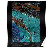 USGS Topo Map Oregon OR Portland 281136 1961 24000 Inverted Poster