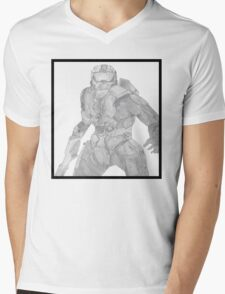 Master Chief Not Color Mens V-Neck T-Shirt