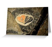 ww2 grafitti hearts underground Greeting Card