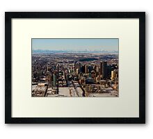 Calgary and the Rocky Mountains Framed Print