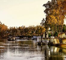Early Evening Light on the Murray River, Echuca by Christine Smith