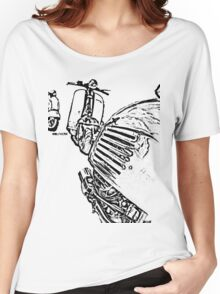 3 Vespa Scooters Women's Relaxed Fit T-Shirt