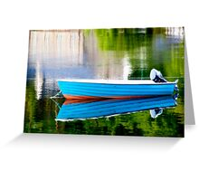 Little Blue Boat Greeting Card