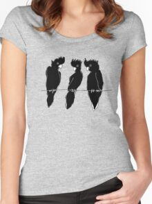 black cockatoos  Women's Fitted Scoop T-Shirt