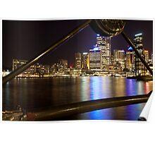 Sydney Circular Quay by night. Poster