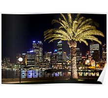 Sydney City Lights Poster