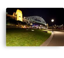 Sydney Harbour Bridge at night Canvas Print