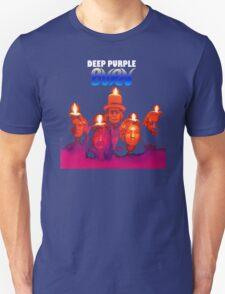 DEEP PURPLE BURN 74 COVERDALE BLACKMORE Rock Band Men's Black T-Shirt T-Shirt