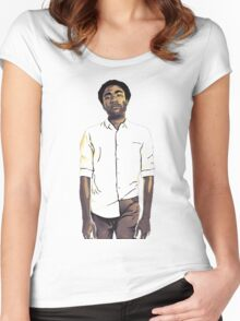 Childish Gambino / Donald Glover Women's Fitted Scoop T-Shirt