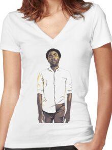 Childish Gambino / Donald Glover Women's Fitted V-Neck T-Shirt