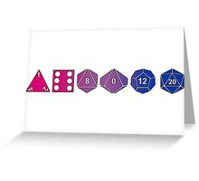 Bisexuality Pride (Polyhedral Edition) Greeting Card