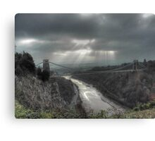 November Sunbeams over Clifton Suspension Bridge, Bristol. Canvas Print