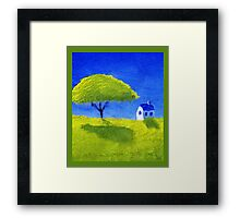 Lonely Tree in Summer Framed Print