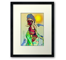 Trapped! Pen Drawing 2 Framed Print