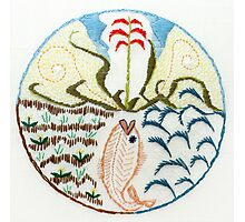 Fish (intuitive embroidery) Photographic Print