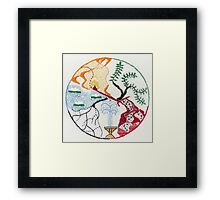 Fountain (intuitive embroidery) Framed Print