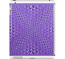 Red-violet concave chevrons iPad Case/Skin