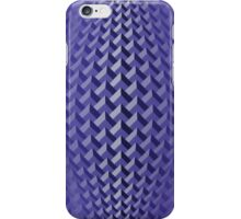 Blue-violet convex chevrons iPhone Case/Skin