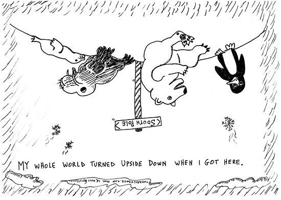 Occupy Antarctica Polar Bear editorial cartoon by bubbleicious
