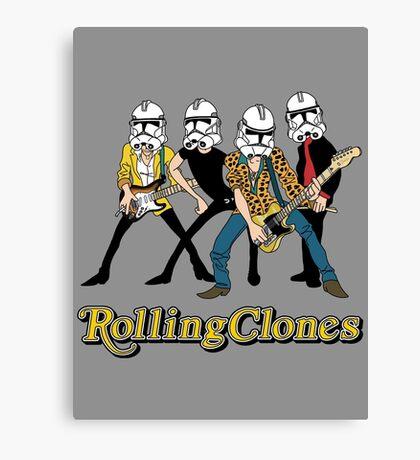 Rolling Clones Canvas Print