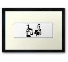 Punk Rock Horses Framed Print