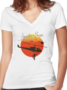 You either surf or you fight Women's Fitted V-Neck T-Shirt