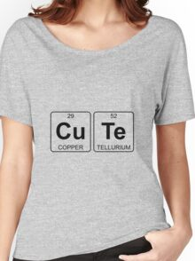 Cu Te - Cute - Periodic Table - Chemistry Women's Relaxed Fit T-Shirt