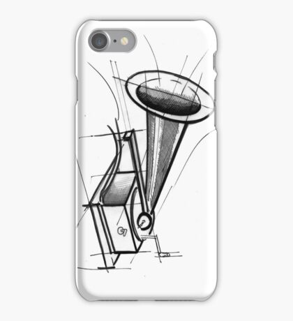 gramophone sketch iPhone Case/Skin
