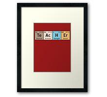 Teacher - Periodic Table Framed Print