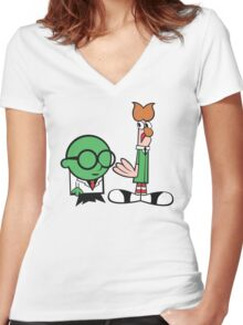 Bunsen's Laboratory (sans text) Women's Fitted V-Neck T-Shirt