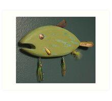 Key chain fish # 4 (SOLD) Art Print