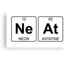 Ne At - Neat - Periodic Table - Chemistry Canvas Print
