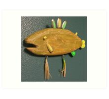Key chain fish # 9 (SOLD) Art Print