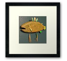 Key chain fish # 9 (SOLD) Framed Print