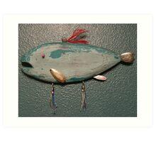 Key chain fish # 14 (SOLD) Art Print