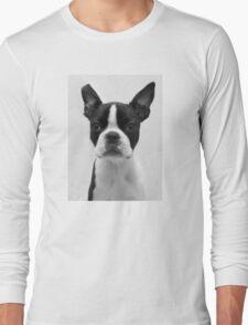 Portrait of Meryl the Boston Terrier Long Sleeve T-Shirt