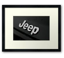 EXTREME WATER REPELLENT - JEEP!! Framed Print