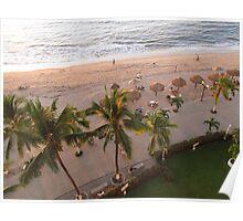 Beach/Playa Olas Altas/Puerto Vallarta/México in the evening sun Poster