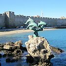 Dolphin Sculpture- Old City of Rhodes,Greece by Patricia127