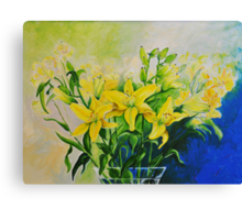Dorothy's Yellow Lily  Canvas Print