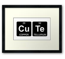 Cu Te - Cute - Periodic Table - Chemistry Framed Print