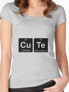 Cu Te - Cute - Periodic Table - Chemistry Women's Fitted Scoop T-Shirt