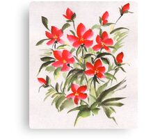 The red flowers Canvas Print